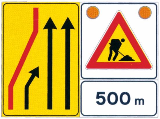 La segnaletica e la condotta di comportamento nei cantieri stradali