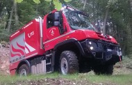 Un Unimog 218 per l'antincendio boschivo a Calavino
