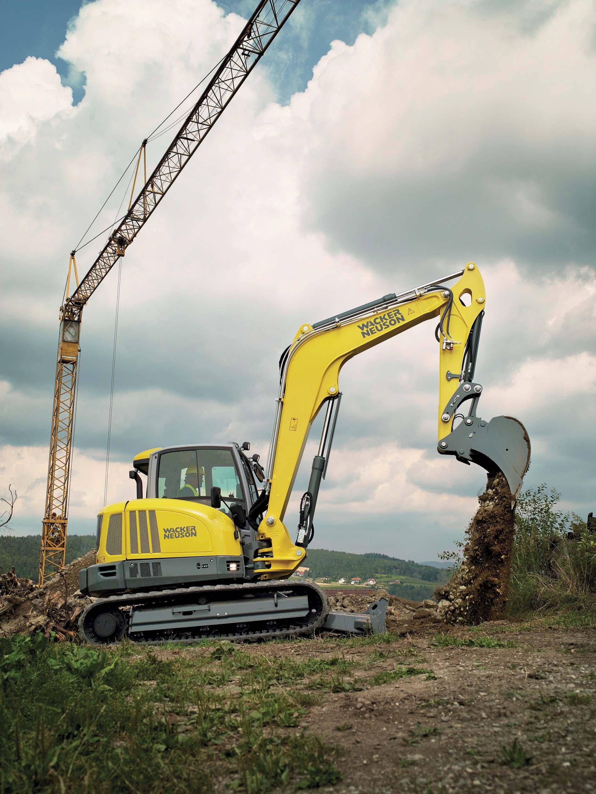 I nuovi escavatori da 6 a 10 tonnellate di WackerNeuson: basso consumo di carburante, confortevoli, potenti