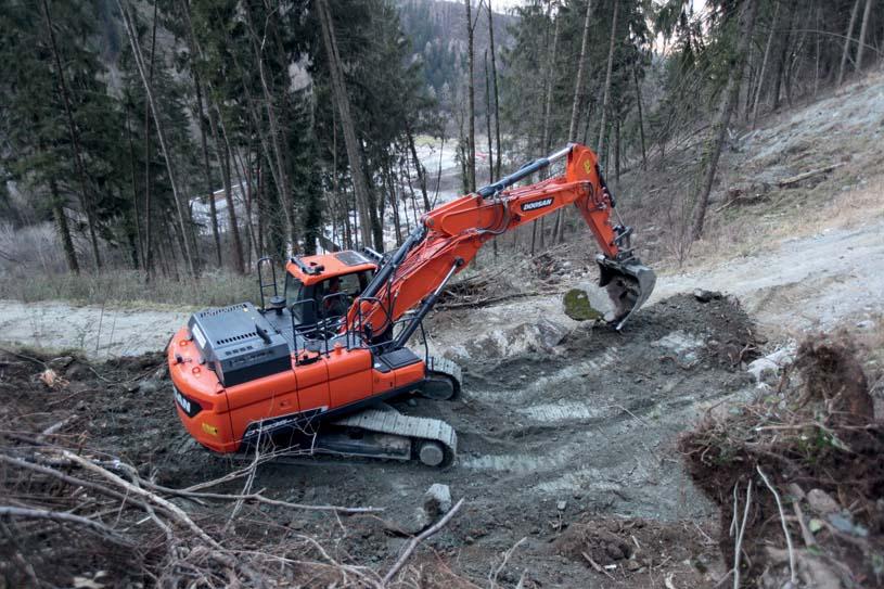 Doosan lancia il nuovo escavatore Stage IV DX235LC-5