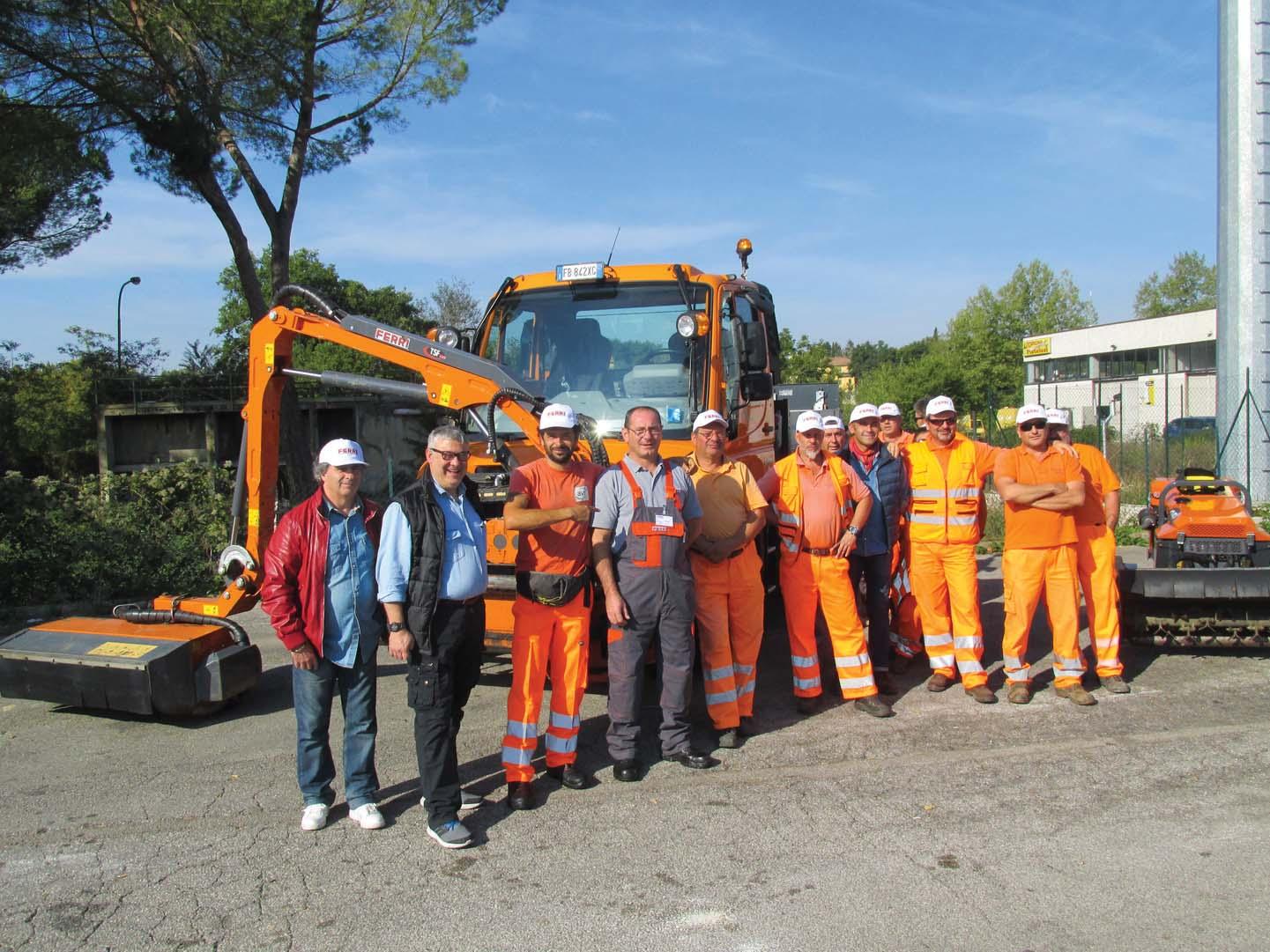 Dimostrazione Ferri a Siena con Unimog