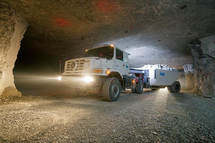 Miniere sotterranee: Knauf Gips sceglie Zetros Mercedes con trasmissioni completamente automatiche Allison