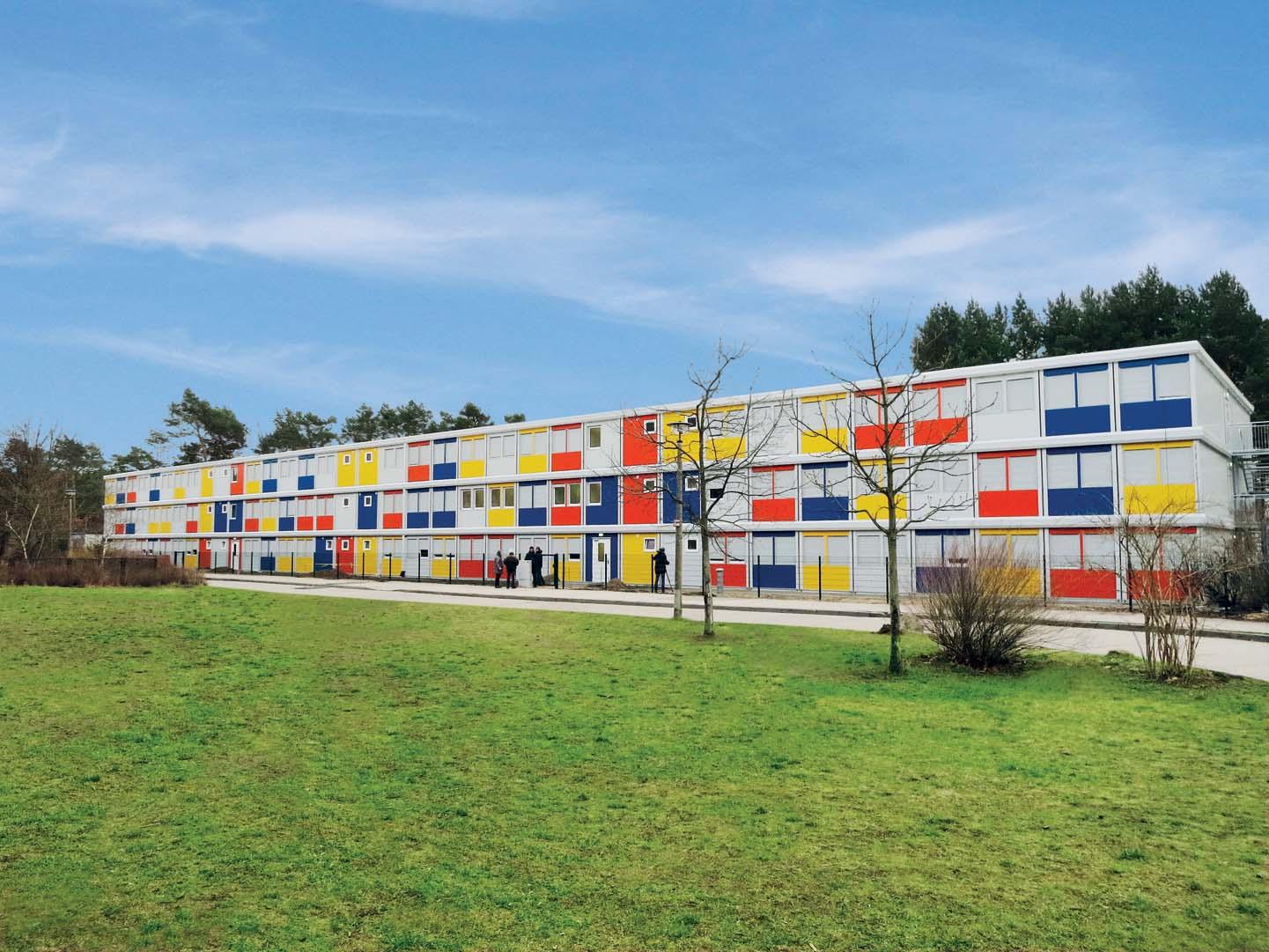 Villaggio Containex per profughi a Berlino