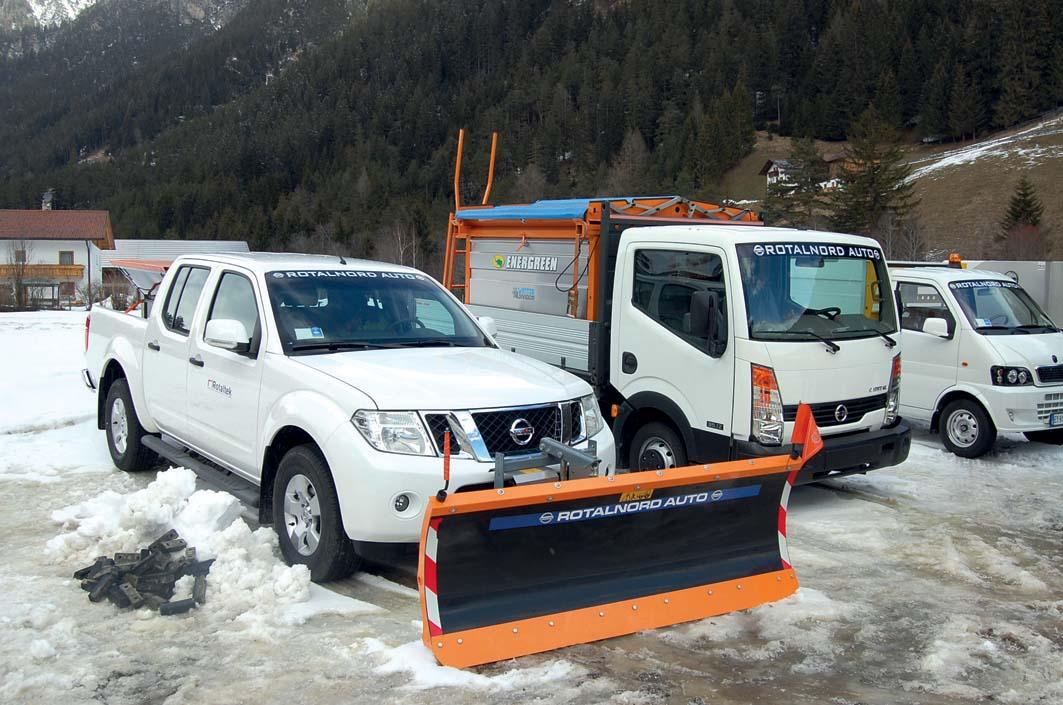 Pick-up Nissan Navara 4x4  per la viabilità invernale