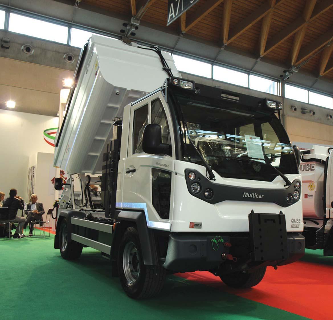 Multicar M31 Euro VI con allestimento raccolta rifiuti a Ecomondo 2015