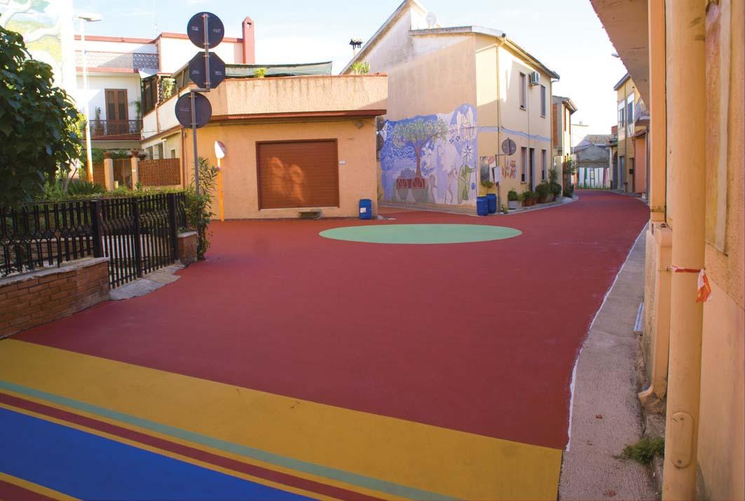 Le pavimentazioni colorate  di Iterchimica  per strade più sicure