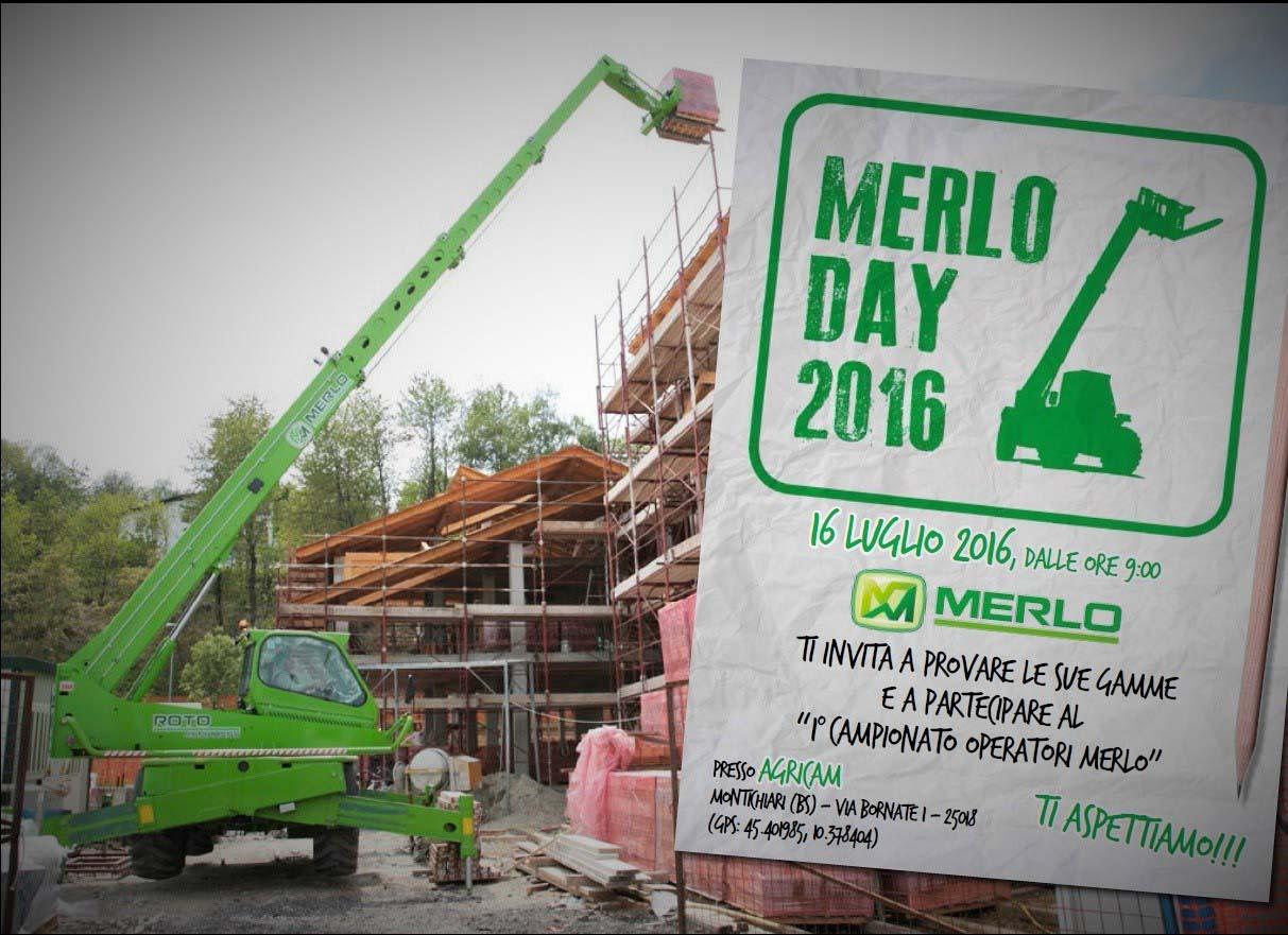 """Montichiari, 16 luglio 2016: conto alla rovescia per il """" Merlo Day 2016"""""""