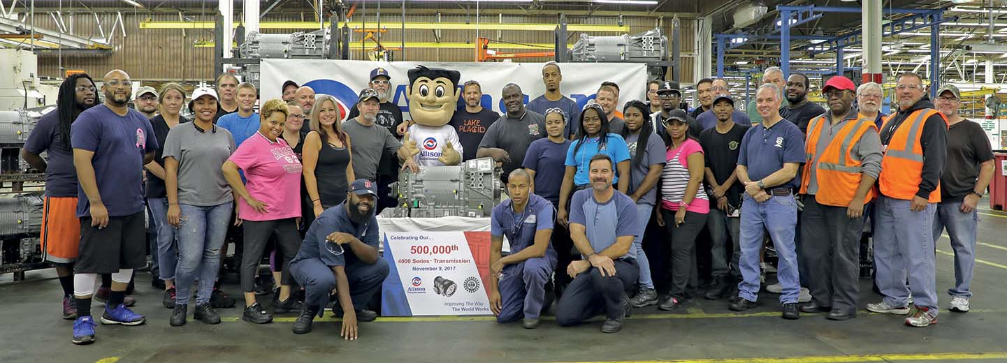 Allison festeggia la produzione della trasmissione numero 500.000 della Serie 4000™