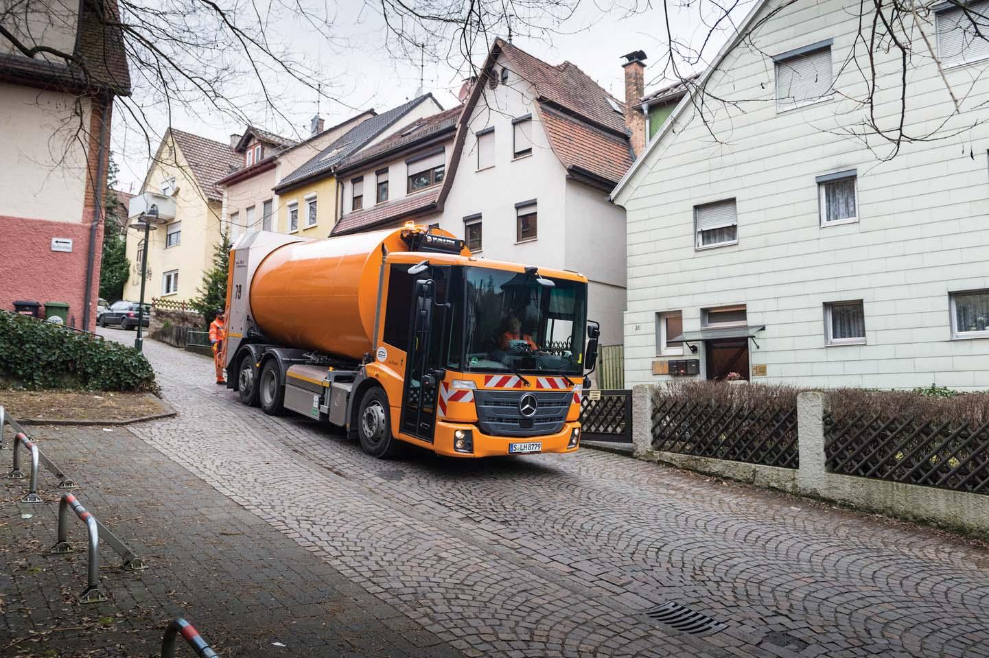 Gli Econic a gas naturale aiutano Stoccarda a vincere la battaglia contro l'inquinamento da polveri sottili