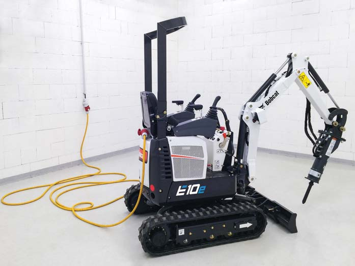 Bobcat lancia il primo miniescavatore elettrico da 1 t